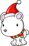 Christmas Holiday Polar Bear Royalty Free Stock Image