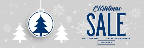 Christmas holiday sale and discount banner design. Vector stock illustration