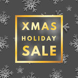 Christmas holiday sale poster. Minimalism trendy shopping banner vector illustration