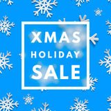 Christmas holiday sale poster. Minimalism trendy shopping banner. Vector discount card vector illustration