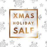 Christmas holiday sale poster. Minimalism trendy shopping banner. Vector discount card stock illustration
