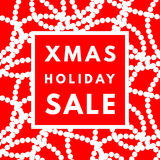 Christmas holiday sale poster. Royalty Free Stock Images