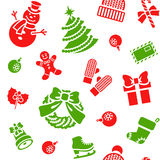 Christmas holiday seamless background pattern Stock Photo