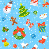 Christmas holiday seamless background pattern Stock Photo
