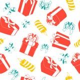 Christmas holiday seamless pattern. Stock Photo