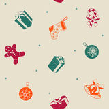 Christmas holiday seamless pattern. Royalty Free Stock Image