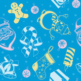 Christmas holiday seamless pattern. Royalty Free Stock Photos