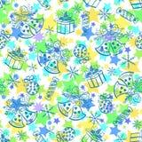Christmas holiday seamless pattern. Christmas seamless pattern with holiday elements and symbols. Vector Royalty Free Stock Photography