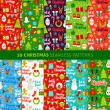 Christmas Holiday Seamless Patterns Stock Image