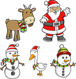 Christmas Holiday Set Stock Photography