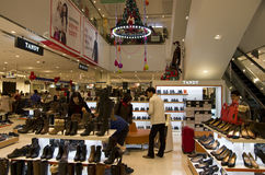 Christmas holiday shopping mall shoe store Royalty Free Stock Photos