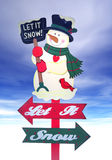 Christmas Holiday Sign Stock Photo