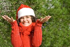 Christmas holiday snow Stock Photos