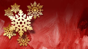Christmas Holiday snowflakes ornaments red textured background Royalty Free Stock Photography