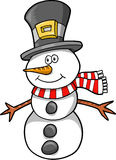 Christmas Holiday Snowman Stock Photo