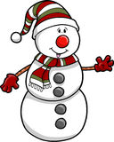 Christmas Holiday Snowman Stock Image