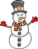 Christmas Holiday Snowman Royalty Free Stock Photo