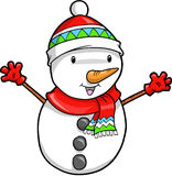 Christmas Holiday Snowman Royalty Free Stock Photography