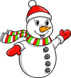 Christmas Holiday Snowman Royalty Free Stock Image