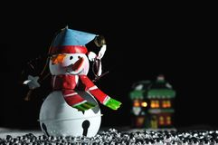 Christmas Holiday Snowman decoration Royalty Free Stock Images