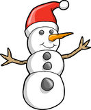 Christmas Holiday Snowman Vector Stock Images