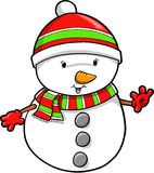 Christmas Holiday Snowman Vector Stock Photography