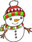 Christmas Holiday Snowman Vector Stock Photo