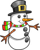 Christmas Holiday Snowman Vector Royalty Free Stock Photo