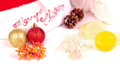 Christmas holiday spa concept close up Stock Image