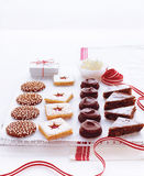 Christmas holiday spice-cakes Stock Images