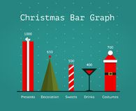 Christmas Holiday Statistics Infographics Template Royalty Free Stock Image
