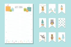 Christmas holiday to do lists, planner, cute notes with winter v Royalty Free Stock Images