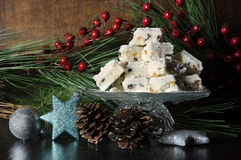 Christmas holiday traditional White Christmas confectionery chocolate fudge Royalty Free Stock Photo
