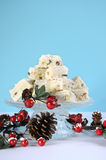 Christmas holiday traditional White Christmas confectionery chocolate fudge Stock Photos