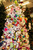 Christmas Holiday Tree Display at Retail Store Stock Photo