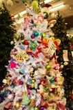 Christmas Holiday Tree Display at Retail Store Stock Photo