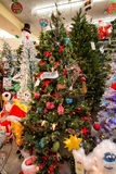 Christmas Holiday Tree Display at Retail Store Royalty Free Stock Image
