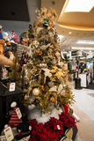 Christmas Holiday Tree Display at Retail Store Stock Photos