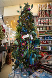 Christmas Holiday Tree Display at Retail Store Royalty Free Stock Photo