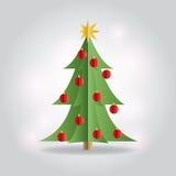 Christmas Holiday Tree Flat Illustration Stock Photos