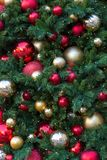 Christmas Holiday Tree Decoration Background closeup Royalty Free Stock Image