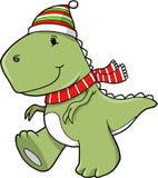 Christmas Holiday Tyrannosaurus Dinosaur Stock Image
