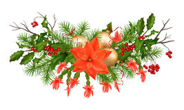 Christmas Holiday Vector Garland Stock Images