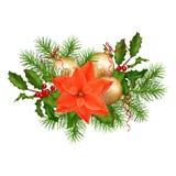 Christmas Holiday Vector Garland Royalty Free Stock Images