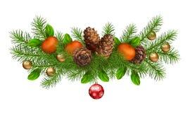 Christmas Holiday Vector Garland Royalty Free Stock Image