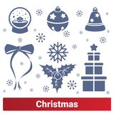 Christmas Holiday Vector Icons royalty free illustration