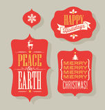 Christmas Holiday vintage typography design elements Stock Images