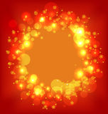 Christmas holiday wallpaper with glowing effect Royalty Free Stock Image