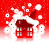 Christmas holiday, winter house vector illustration