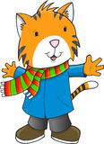 Christmas Holiday Winter Tiger Stock Images